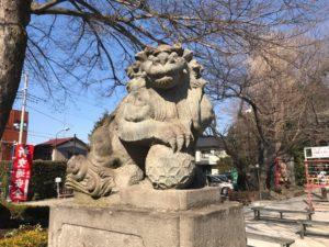 鎮守氷川神社 狛犬