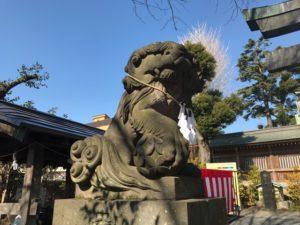 鳩ケ谷氷川神社 狛犬