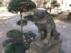 馬場氷川神社 狛犬